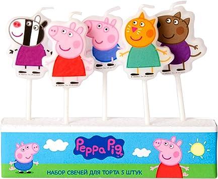 Amazon.com: Peppa Pig moldeado Pick vela Set de 5 ...