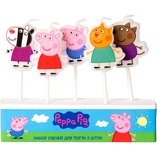 Amazon.com: Molded Pick Candle Set of 5 Birthday Party ...