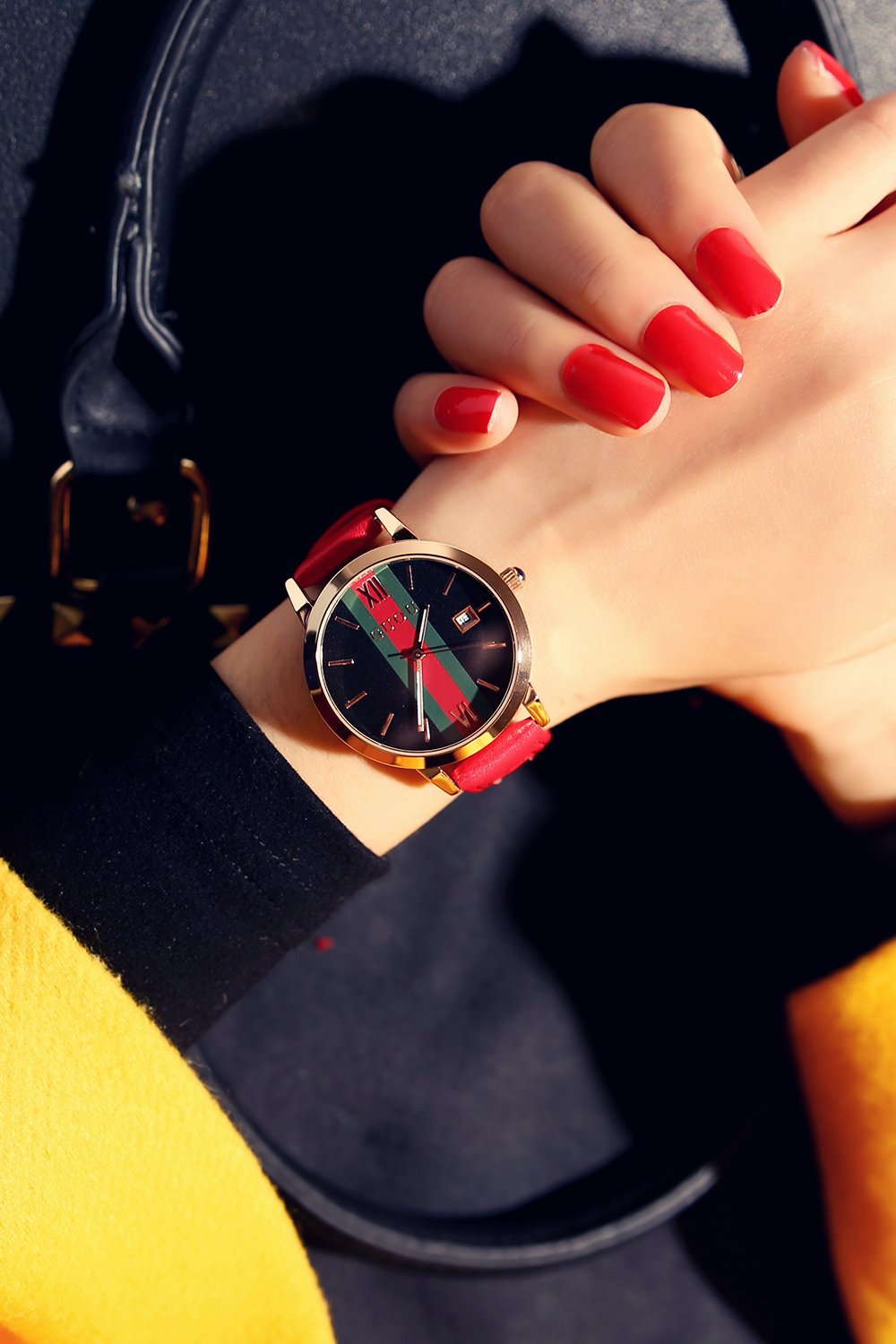 Generic Genuine_Hong_Kong_ancient_European_Ladies_ women girls _jacket_with_waterproof_calendar_big_dial_ fashion _trend Korean_style_of simple_ watch es