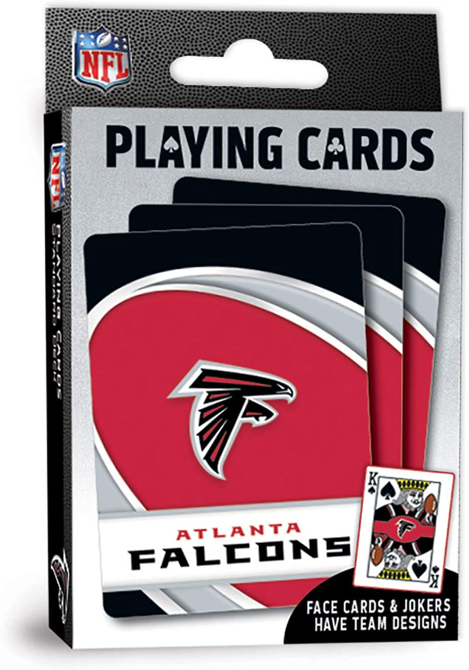 "MasterPieces NFL Atlanta Falcons Playing Cards,Red,4"" X 0.75"" X 2.625"""