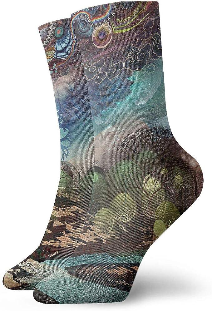 Unisex High Ankle Cushion Crew Socks Cartoon Art Pattern Casual Sport Socks