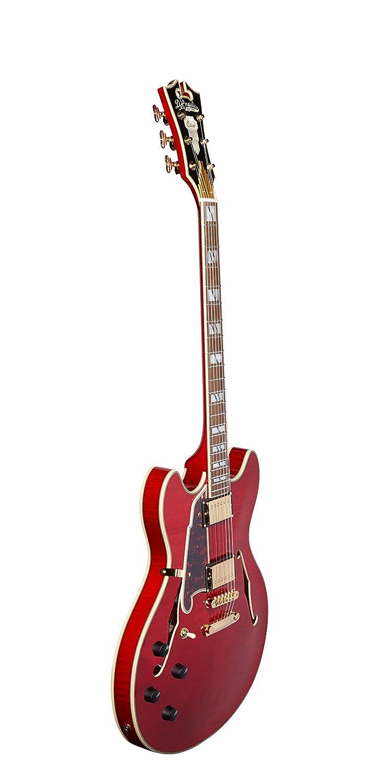 DAngelico Excel DC - Guitarra eléctrica semihueca para zurdos, color cereza: Amazon.es: Instrumentos musicales