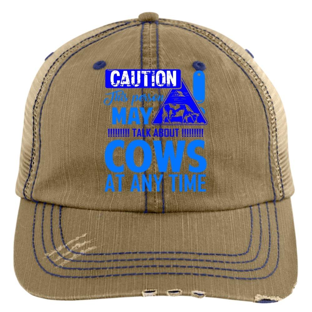 I Love My Cow Hat, Talk About Cows Trucker Cap (Trucker Cap - Khaki)