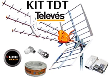 KIT ANTENA TELEVES HD 149902 +20MT CABLE+FUENTE TELEVES 5795 +CONECTORES DE ANTENA