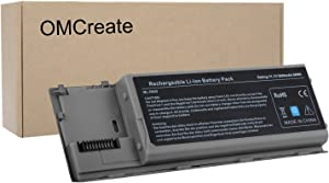 OMCreate Battery Compatible with Dell Latitude D630 D620, fits P/N PC764 PP18L TC030