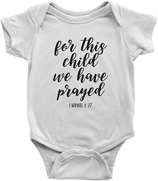 shower gift silver For this Child I have Prayed scripture baby gown pink coming home outfit newborn outfit gray baby gift