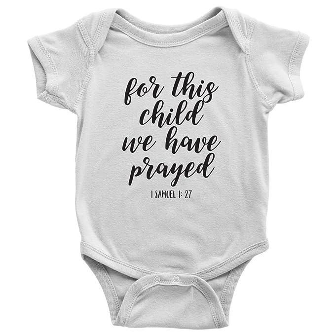 Amazon.com: Versículo de la Biblia para este niño hemos oró ...