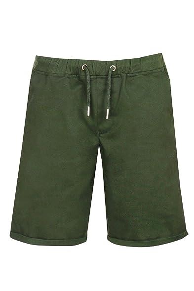 Boohoo Mens Khaki Wide Leg Chino Short In Khaki Size 28