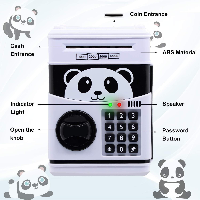Gran M/áquina de Ahorro Autom/ático Mini ATM Hucha Digital con Contrase/ña y Luz UV Hucha El/éctrica Grande para Monedas y Billetes WildHD Hucha Electr/ónica para Ni/ños