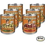 La Morena Chiles con Chipotles Adobados, Rajas Verdes, Chiles Jalapeños, Rodajas, Chiles Serranos y Zanahorias, 210 g