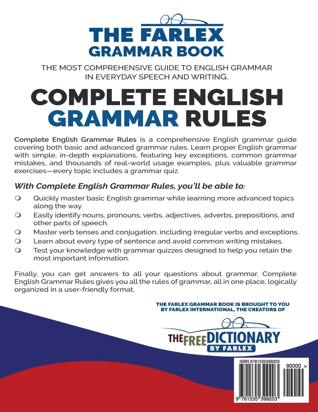 Complete english grammar rules examples exceptions exercises and everything you need to master proper grammar the farlex grammar book volume 1
