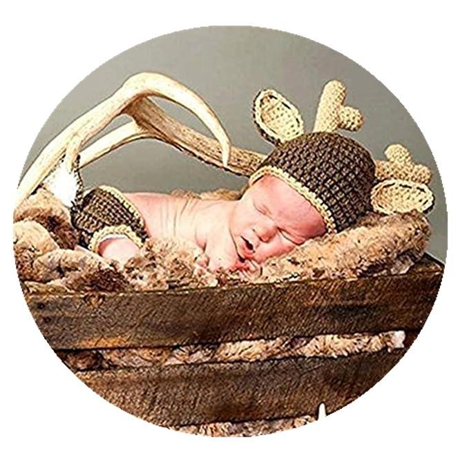Recién nacido bebé Niños Niñas foto Prop ganchillo disfraz animal ...