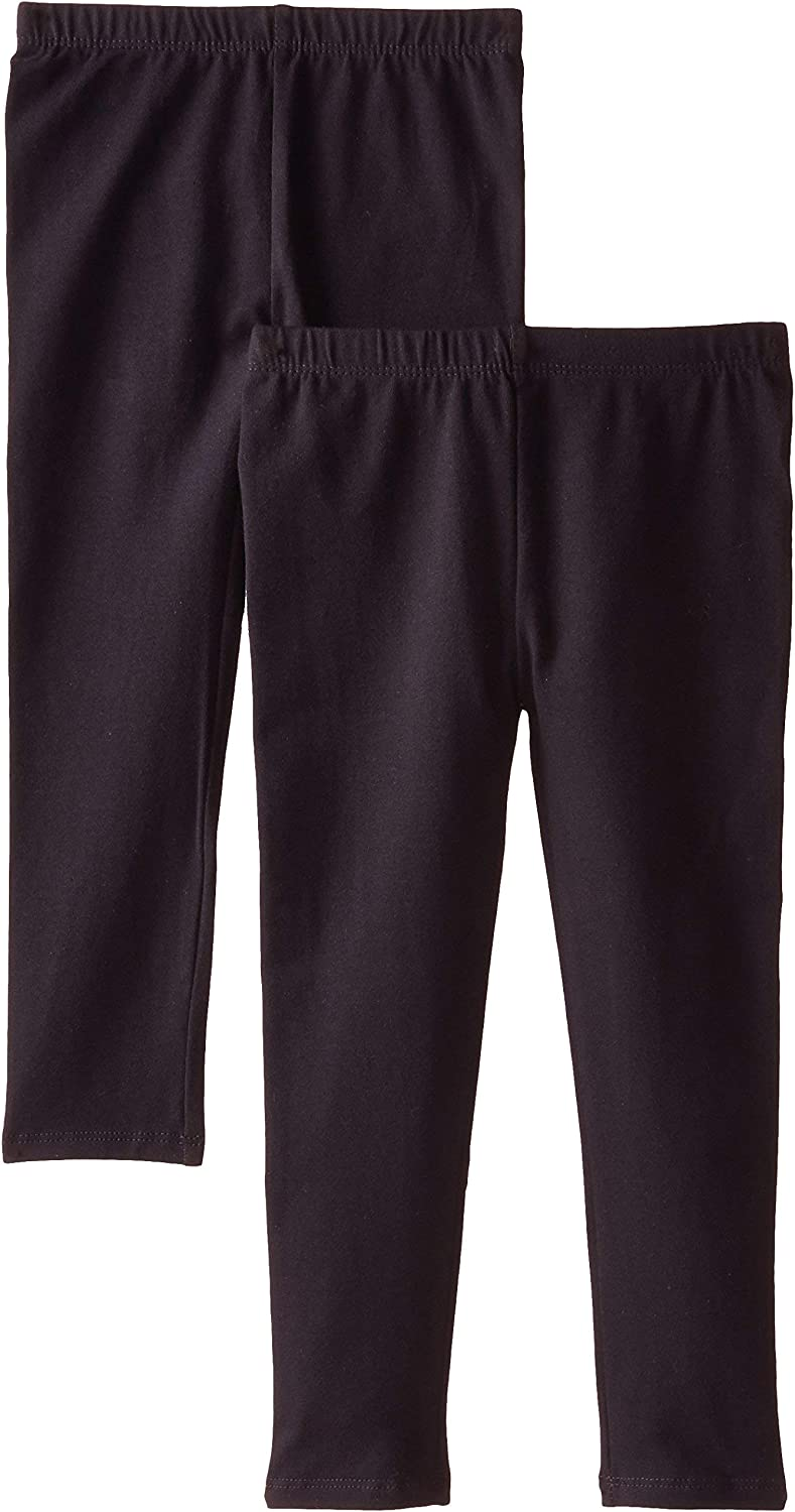 The Children's Place Girls' 2 Pack Basic Leggings: Clothing
