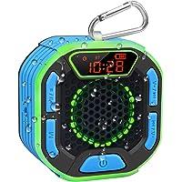 BassPal Altavoz Bluetooth Portátil de Ducha, IPX7 Altavoz Impermeable con Potente Sonido Fuerte, Pantalla LED, Mosquetón…