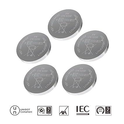 CR1212 – Batería de botón Recargable de Litio de Pilas de botón 3 V (5
