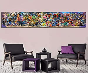 Fashion Canvas Painting Oli Painting Newest Super Smash Bros Ultimate Update Art Video Game Poster Cartoon Pictures Artwork Paintings Wall Art For Home Decor Canvas Paintings