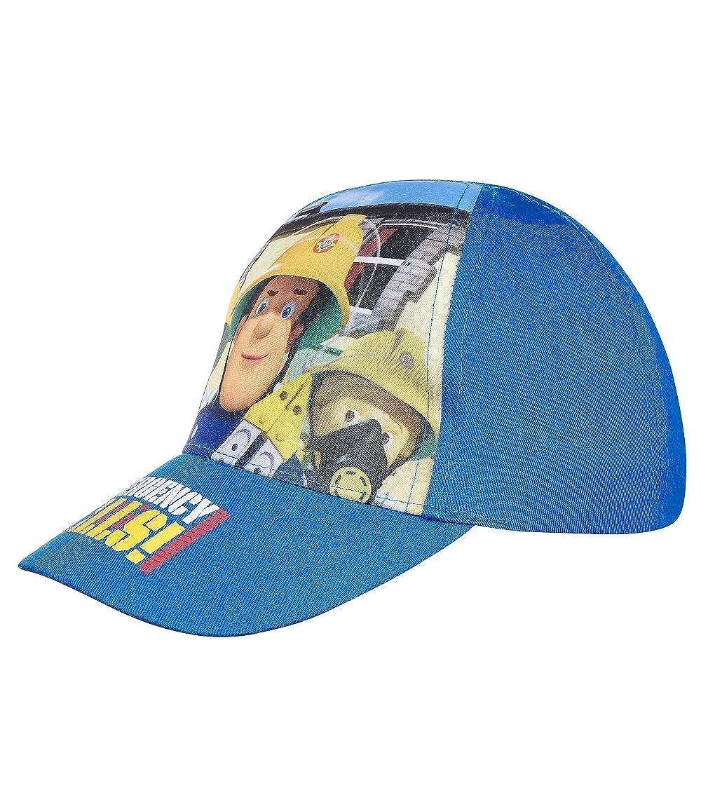 Regolabile con Velcro in Azzuro//Blu//Blu Scuro per i Bambini per Ragazze e Ragazzi Sam il pompiere basecaps Berretto Cappy