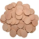 AxeSickle Natural Wood Slices 1.5 inch Unfinished Round Wood 50 pcs These Round Wood Coins for Arts & Crafts Projects…