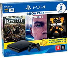 Console Playstation 4 1TB Hits Bundle 5.1 - Days Gone + Detroit Become Human + Call Of Duty Black Ops 4 - PlayStation 4...
