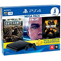 Console Playstation 4 1TB Hits Bundle 5.1 - Days Gone + Detroit Become Human + Call Of Duty Black Ops 4 - PlayStation 4…