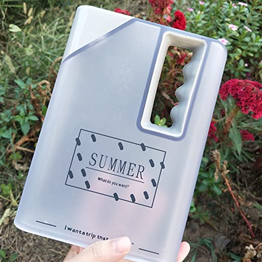 Water Bottle Clear Book Portable Paper Pad Water Bottle Flat Drinks Cup Kettle