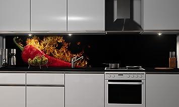 Küchenrückwand Folie selbstklebend | Hot Peperoni ...