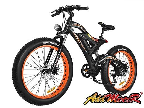 Addmotor Motan Mountain Bike Elettrica Ruote Larghe Batteria Da