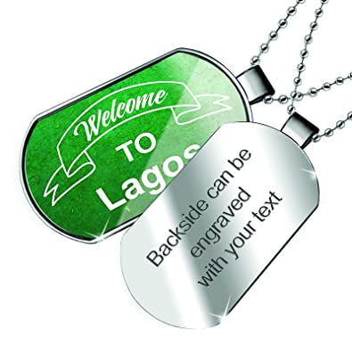 NEONBLOND Personalized Name Engraved Worlds Best Major Dogtag Necklace
