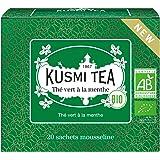Kusmi Tea - Organic - Spearmint Green Tea - Refreshing Green Tea with Spearmint Leaves & Mint Essential Oils - Organic, Premi