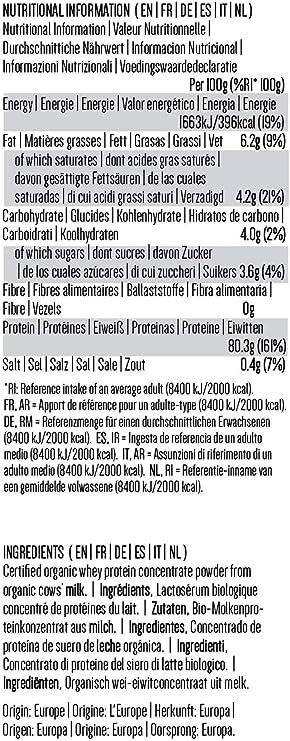 PINK SUN Concentrado de Proteína de Suero Orgánico 1kg Bio Hierba alimentada sin Hormonas Neutro sin Sabor sin Gluten sin Soja Organic Whey Protein ...