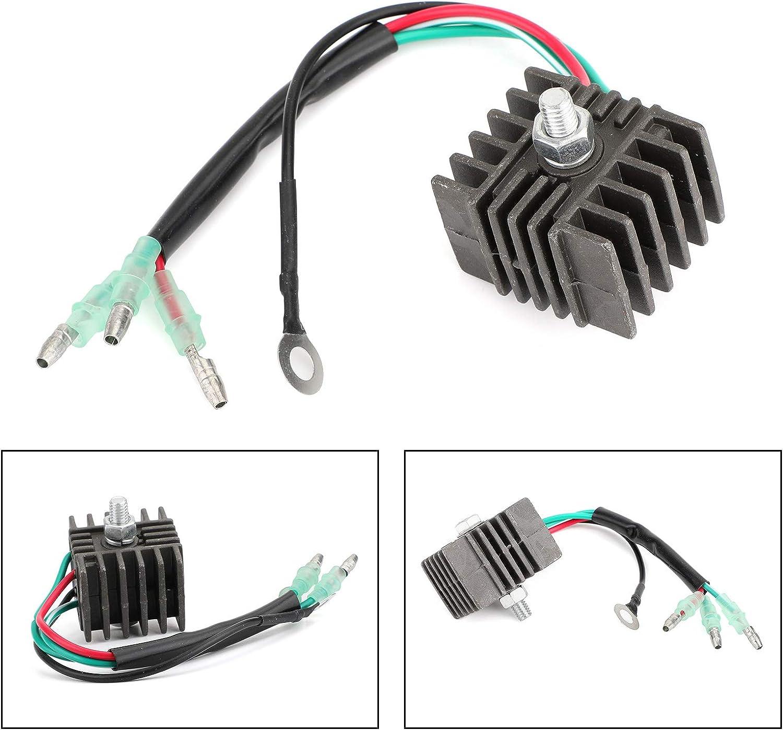 Rectificador regulador de voltaje fueraborda marino apto para Yamaha 25-70 HP 1984-2001 6G1-81970-61
