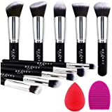 BEAKEY Makeup Brush Set Premium Synthetic Foundation Face Powder Blush Eyeshadow Kabuki Brush Kit, Makeup Brushes with Makeup