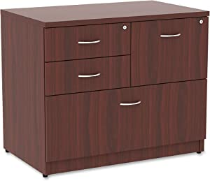 Lorell Prominence Lateral File, Mahogany Laminate Top