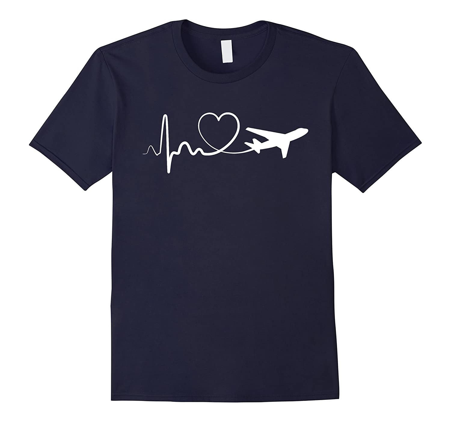 Heartbeat To Travel Airplane T-Shirt-BN