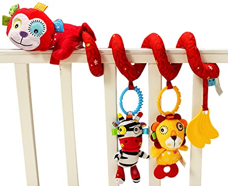 Jollybaby - Juguetes Colgantes Espiral de Animales para Cuna Cochecito Carrito bebés niños niñas arrastrar -