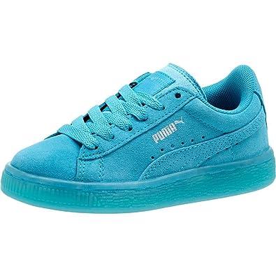 buy popular 11f43 54b77 Amazon.com | Puma Suede Classic ICED Kids Blue Atoll-Puma ...