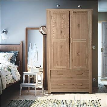 homebase constable oak 2 door 2 drawer wardrobe bedroom storage rh amazon co uk