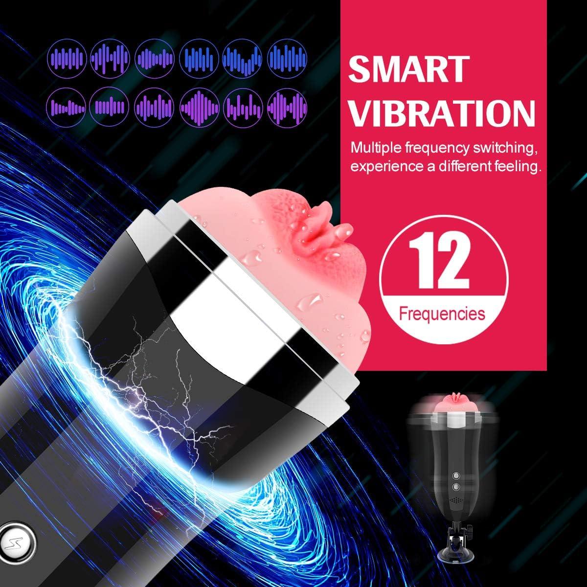 Masajeador de vibraci/ón,12 modos de vibraci/ón con part/ículas de masaje 4D funci/ón de voz【L】