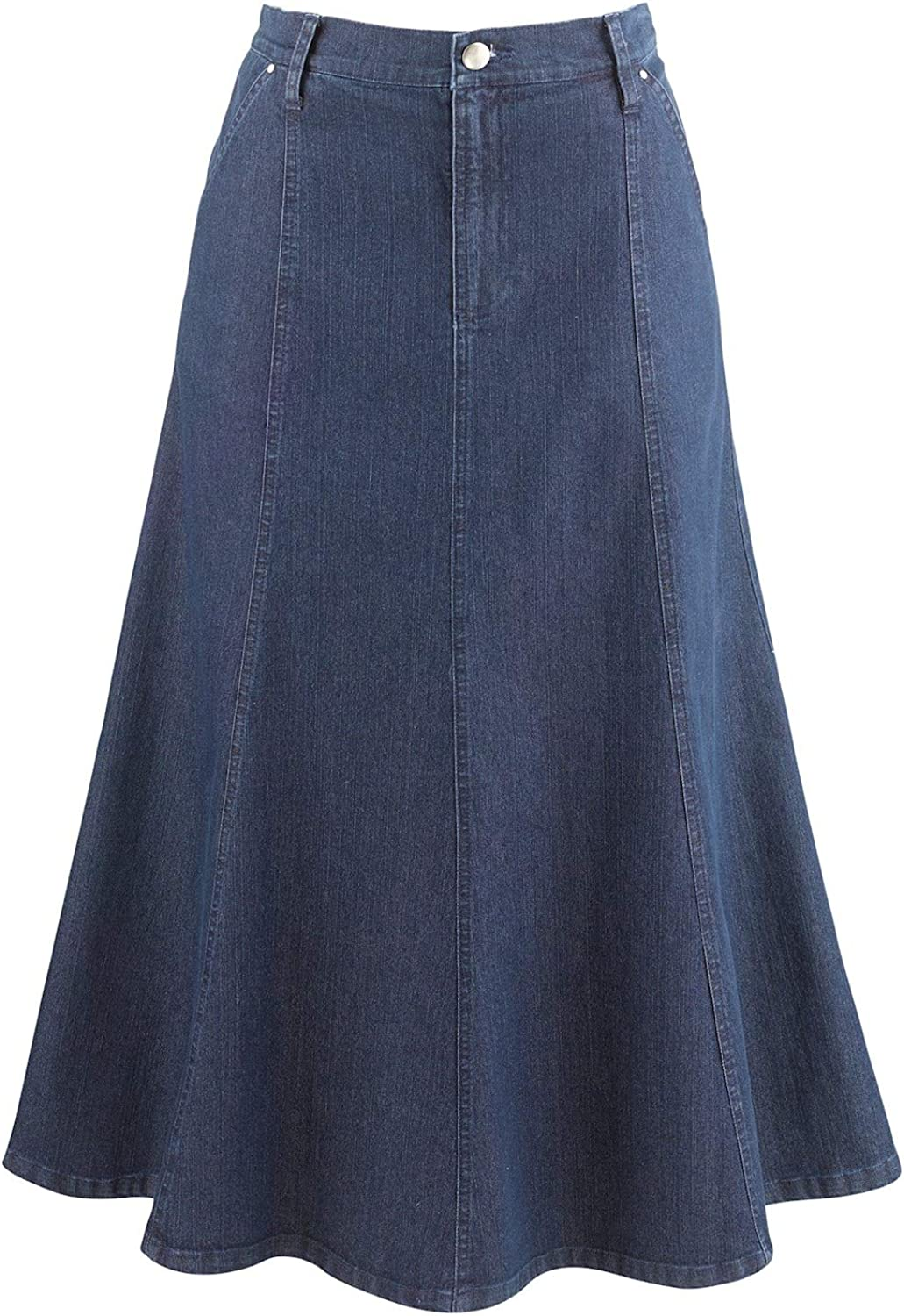1980s Clothing, Fashion | 80s Style Clothes Womens 8-Gore Denim Riding Maxi Skirt - 31.5 Long $44.95 AT vintagedancer.com