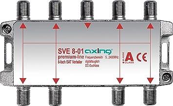 Axing SVE 8-01 - Distribuidor de antena (8 salidas, 5-2400 ...