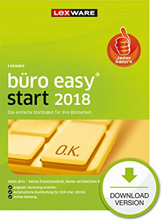 Lexware Büro Easy Start 2018 Download Jahreslizenzfür