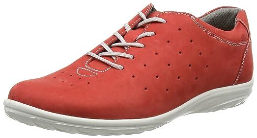 JomosAllegra - Zapatos Planos con Cordones Mujer, Color Rojo, Talla 44