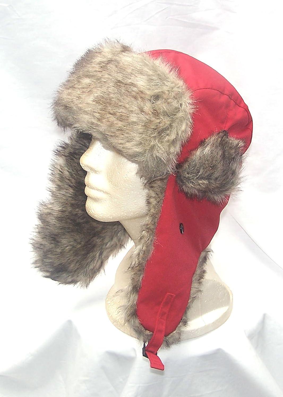 ファーAviator Trooper Camperイヤーフラップレッドビーニースキースノーボード帽子   B005RHWAJ0