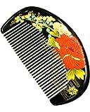 Orienex 高級水牛角櫛 ヘアコーム 半月とき櫛 頭皮マッサージ 静電気防止 敬老の日 (水牛角)