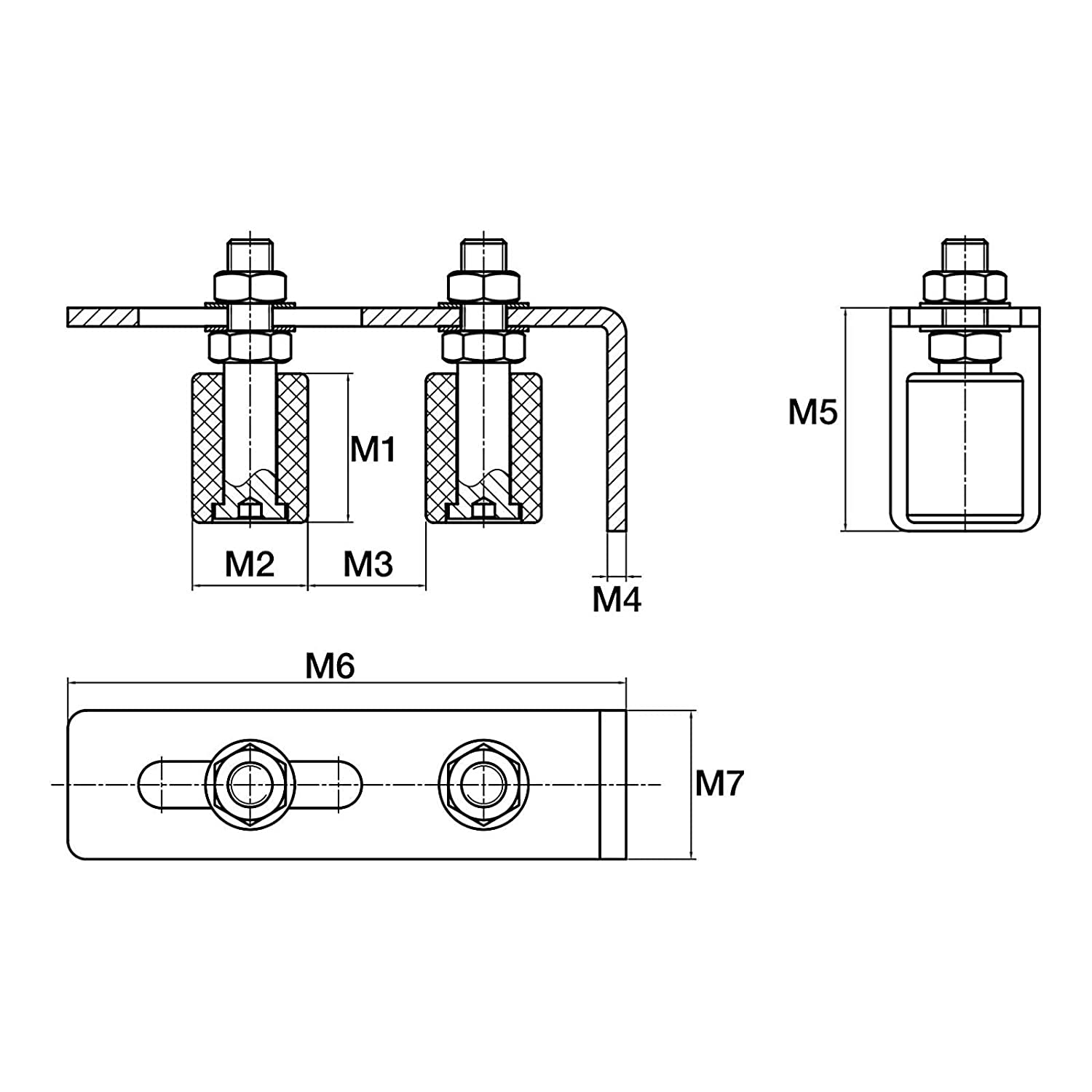 2 x Gate Roller Guide with 2 Rolls /Ø 30 mm Gate Guides Roller Guides from SO-TECH/®