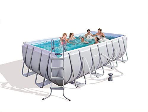Bestway 56455E Power Steel Rectangular Frame Pool Set