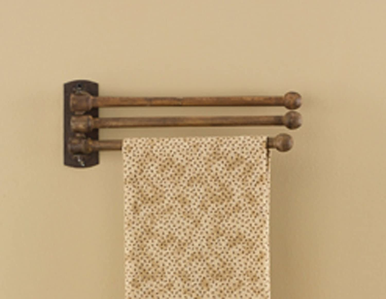 Amazon.com: Park Designs 3 Prong Wood Towel Rack: Home & Kitchen