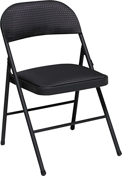 Superb Cosco Fabric Folding Chair Black 4 Pack Renewed Machost Co Dining Chair Design Ideas Machostcouk