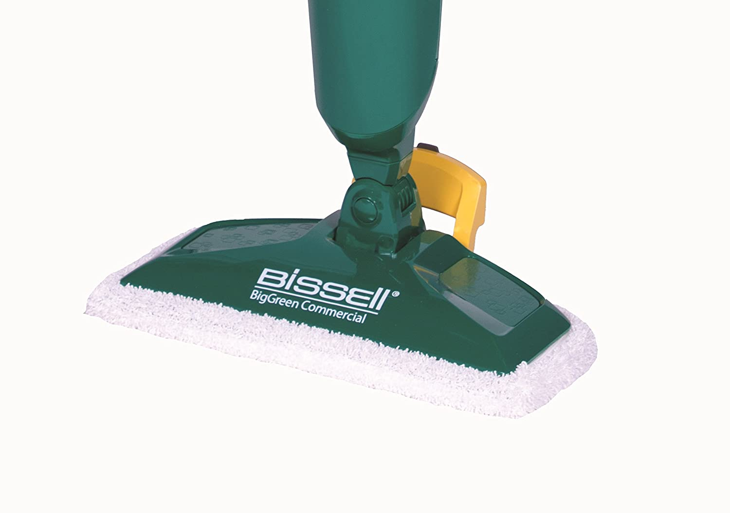 comes with Two soft pads for every day and one scrubby pad for heavy messes 12.5 wide Bissell BigGreen Commercial BGST1566 12.5 wide Steam Mop Power Steamer