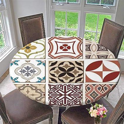 Amazon Com Luxury Round Table Cloth For Home Use Vintage Retro